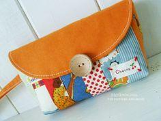 Caroline Clutch Bag Free PDF Sewing Pattern by iThinkSew