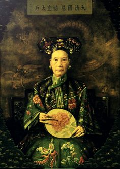 One of the historical oil paintings by Western artists depicting Empress Dowager Cixi 慈禧太后.