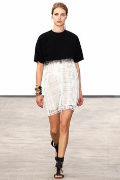 #blackandwhiteoutfit #ombredress {Derek Lam #Spring2014 Ready-to-Wear Collection} #nyfw
