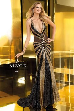 Prom DressEvening Dress by Claudine for Alyce Paris2211Straight From Runway!