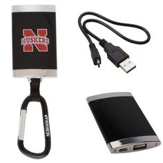 Nebraska Cornhuskers Carabiner Backup Battery