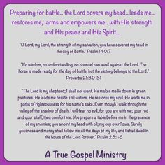 Scripture and Prayer #atruegospelministry