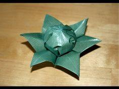 Origami - Fleur à six pétales - Six petals flower - YouTube