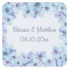 Modern Spring Violets Wedding Paper Coaster - spring wedding diy marriage customize personalize couple idea individuel