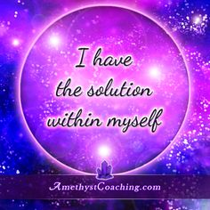 Today's Centering Thought: I Have The Solution Within Myself <3 #affirmation #coaching