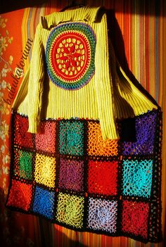 Ravelry: babukatorium's RainButton Crochet Mandala Upcycled Sweater Coat