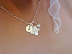 Personalized Flower Girl Necklace Dainty by ShinyLittleBlessings