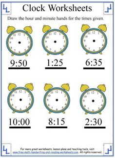 math worksheet : 1000 images about telling time worksheets on pinterest  clock  : Math Telling Time Worksheets
