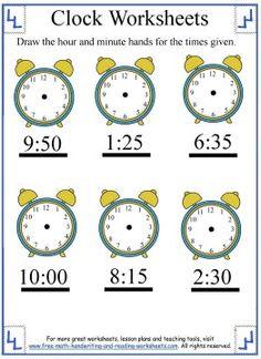 math worksheet : telling time worksheet  look at the time given write the time  : Math Time Worksheets