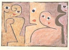 Paul Klee (1879-1940), Gruppe macht Augen (Open-eyed Group), 1938 (203). Gouache. 40cm H x 55.3cm W.