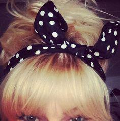 Instagram Insta-Glam: Messy bun and polka dots