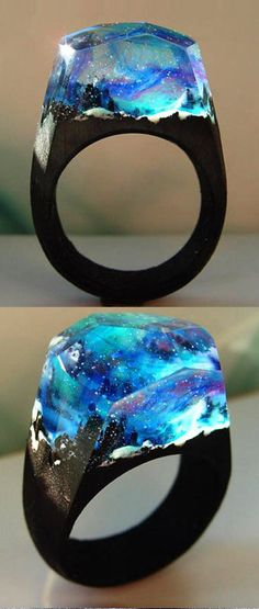 Quanta - Northern Lights Resin Ring - africaine Lights Northern Quanta Resin Your marketplace to buy and sell handmade items. Cute Jewelry, Jewelry Box, Jewelry Accessories, Jewelry Making, Jewelry Armoire, Diy Jewelry, Jewlery, Resin Ring, Resin Jewelry