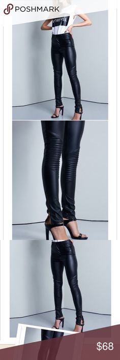 Women Leather Pants Genuine Lambskin Leather Skinny Ladies Pants XS-2XL W10
