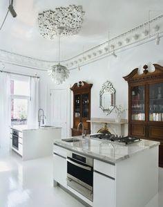 love the mix of new+old // Scott Slarsky and Katarina Edlund home kitchen