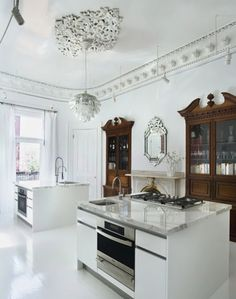 Mix of new+old // Scott Slarsky and Katarina Edlund home kitchen (incredibly beautiful)