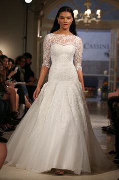 Oleg Cassini Bridal Fall 2016 [Photo: Thomas Iannaccone]
