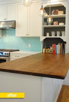 """When we saw photos of Kitchn reader Sarah Galender Meyer's Bay Area kitchen renovation, we were stunned! This small, dark 1970s kitchen (""""horrid,"""" as Sarah said) underwent a complete gut remodel, which included knocking down a wall between the kitchen and dining room and adding French doors to bring in more light. See what the kitchen looks like now:"""