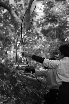 Japanese archery -kyudo-: photo by hugo_b, via Flickr