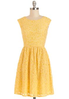 So I already have a dress similar to this, but I'm not sure why I can't have two. :) Welcome the Sunshine Dress, #ModCloth
