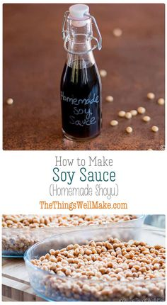 Impress your friends and save money by making your own soy sauce from scratch. Today we'll learn how to make a homemade shoyu, a fermented Japanese soy sauce made from soybeans and wheat berries. Homemade Soy Sauce, Recipes With Soy Sauce, Homemade Seasonings, Real Food Recipes, Side Recipes, Other Recipes, Dinner Recipes, Fermented Foods, Cooking