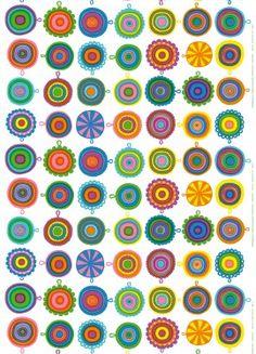 Marimekko fabric - looks an awful lot like that granny square afghan I want to make!