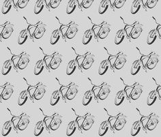 Come along with me on my bike fabric by mezzime on Spoonflower - custom fabric
