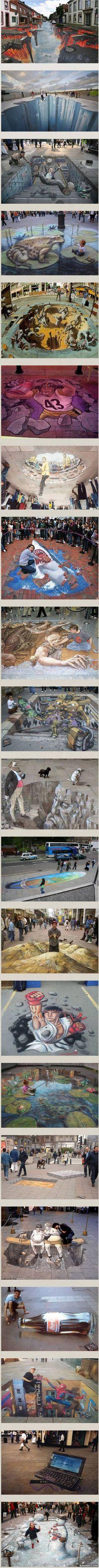 Sidewalk Chalk Art #chalkart #art #chalk