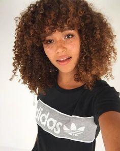 Natural hair curls