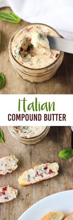 Italian Compound Butter - packed with fresh basil, garlic, and sun-dried tomatoes. | mysequinedlife.com