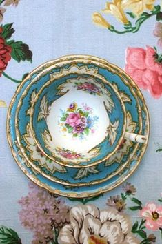 Vintage China...fun idea for daughter birthday gift...give a tea cup and saucer every year from age 5-17 and she will have a sweet set of her own when she gets married.