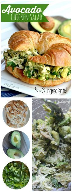 This 3 ingredient avocado chicken salad recipe will delight your taste buds. Hea… This 3 ingredient avocado chicken salad recipe will delight your taste buds. Healthy and delicious, and something your family will enjoy. Recipe brought to you by Lina from