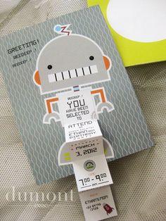Robot themed birthday celebration  <3 this invite!