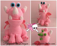 Pipsqueak the Dragon Crochet Pattern by Forever Stitchin $3.00 CAD