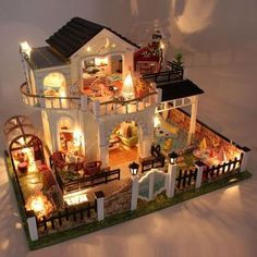 Wooden Doll House Miniature Furniture 3D – buestyle.com