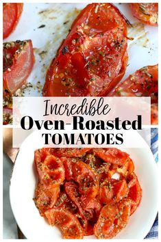 Oven Roasted Tomatoes Recipe - My Cooking Ideas 2019 Clean Eating Recipes, Easy Healthy Recipes, Vegetarian Recipes, Easy Meals, Cooking Recipes, Cooking Ideas, Eating Healthy, Asian Recipes, Free Recipes