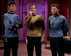 The dynamic threesome: Spock, Kirk, and McCoy (Star Trek)