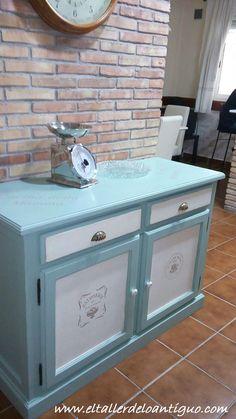 **Pintar mueble de Cocina - El Taller de lo Antiguo Old Furniture, Paint Furniture, Repurposed Furniture, Furniture Makeover, Shabby Chic Pink, Kitchen Sets, Home Hacks, Chalk Paint, Wood Crafts