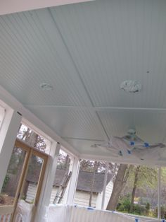 How to Install a Beadboard Ceiling in a Porch | Ceilings, Porch and Easy Carport Ceiling Ideas on garage wall material ideas, outdoor room ideas, car port design ideas, garage shelving ideas, garage insulation ideas, wooden ceilings ideas, carport plans product, small screen porch decorating ideas, carport designs, carport kits, basement bedroom ideas, garage lighting ideas,