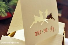 Using the Silhouette to make handmade holiday cards