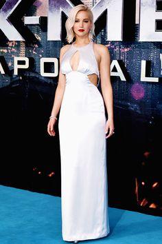 Jennifer Lawrence at the X-Men: Apocalypse premiere in London