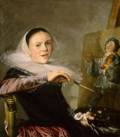 And of course Judith Leyster's famous self portrait.. Take care, Judith or the paint will stain your flemish lace!