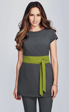 Our hair and beauty uniforms make a statement in the workplace with bold, confident designs and sturdy construction that looks great and is built to last. Salon Uniform, Spa Uniform, Hotel Uniform, Uniform Ideas, Beauty Therapist Uniform, Beauty Tunics, Salon Wear, Beauty Uniforms, Restaurant Uniforms