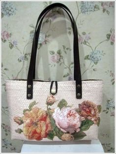 Decoupage bag...