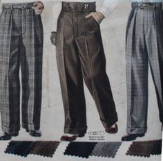 Popular men's fashion in the 1920s included wide legged trousers that were worn with oxford shoes.