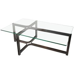 Roger Sprunger for Dunbar Bronze and Glass Cocktail Table 1 Table Furniture, Antique Furniture, Modern Furniture, Glass Top Coffee Table, Coffee Tables, Bronze, Geometric Form, Cocktail Tables, Antiques