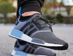 Basket Adidas NMD R1 Boost Knit Tonal Black Lush Red (3)