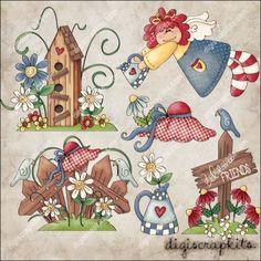 Love My Garden 1 Clip Art Set