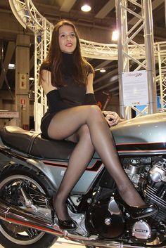 Sexy motorbike girl