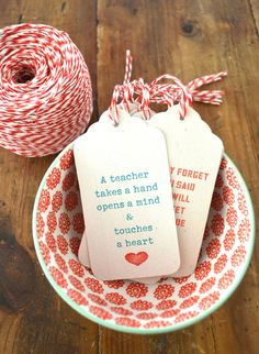 Made With Love By You - Teacher Appreciation Gift Ideas - Teacher Gift Tags < Made With Love By You Teacher Gift Tags, Teacher Thank You, Your Teacher, Presents For Teachers, Little Presents, Free Printable Gift Tags, Free Printables, Teacher Appreciation Week, School Gifts