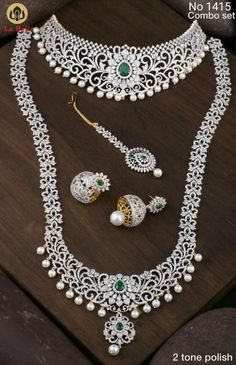 real diamond necklaces are stunning Image# 5628 Gold Jewelry For Sale, Wholesale Gold Jewelry, Real Gold Jewelry, Silver Jewellery Indian, Indian Wedding Jewelry, Gold Jewellery Design, Nose Jewelry, Bridal Jewelry, Diamond Earrings Indian